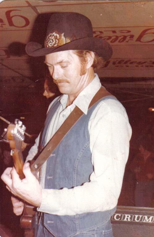 Playing guitar at Gilley's Club, Pasadena, Texas