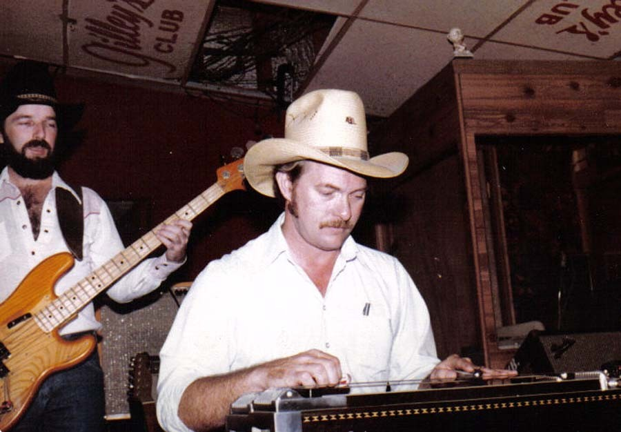 Bob Tuttle playing steel guitar at Gilley's Club